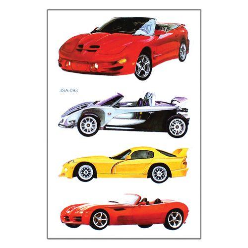Samolepky 3SA Auta 12 x 8 cm Typ: 3. Cabrio