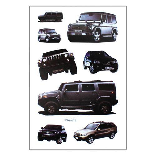 Samolepky 3SA Auta 12 x 8 cm Typ: 2. Terení