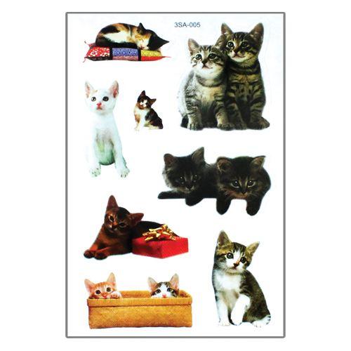 Samolepky 3SA Zvířata 12 x 8 cm Typ: 3. Kočky