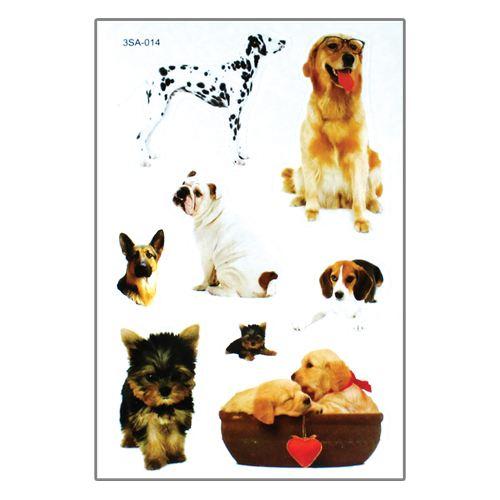 Samolepky 3SA Zvířata 12 x 8 cm Typ: 2. Psy