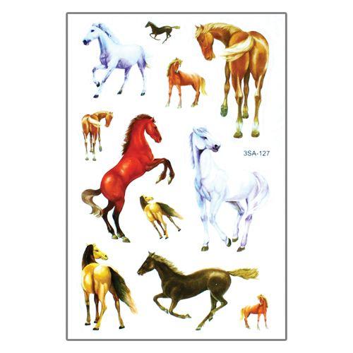 Samolepky 3SA Zvířata 12 x 8 cm Typ: 1. Koně