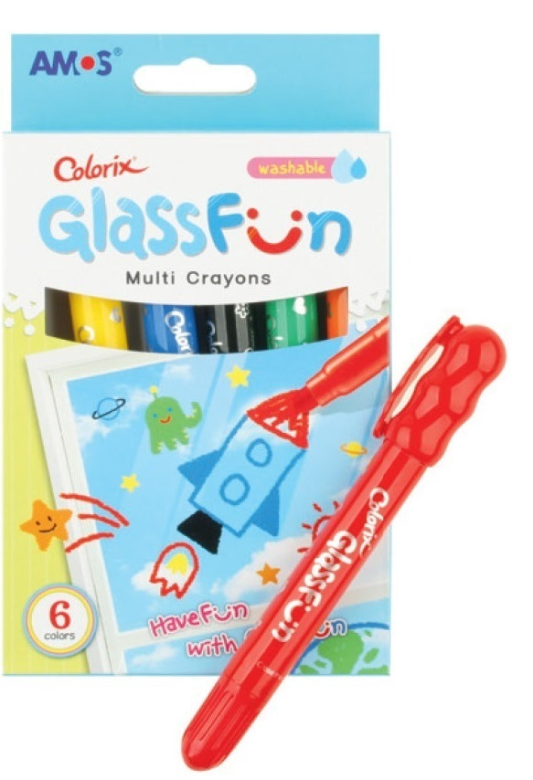 Glass Fun 6 barev na sklo, smývatelné 1509