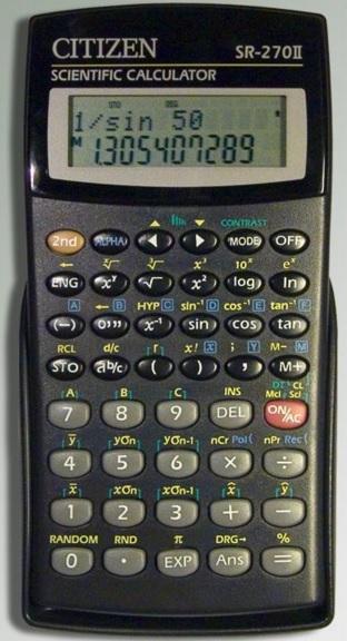 Kalkulačka Citizen SR 270N vědecká