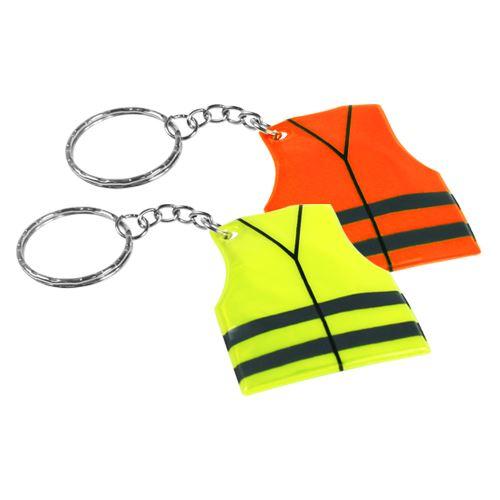 Reflexní přívěsek - vesta, žlutý / oranžový