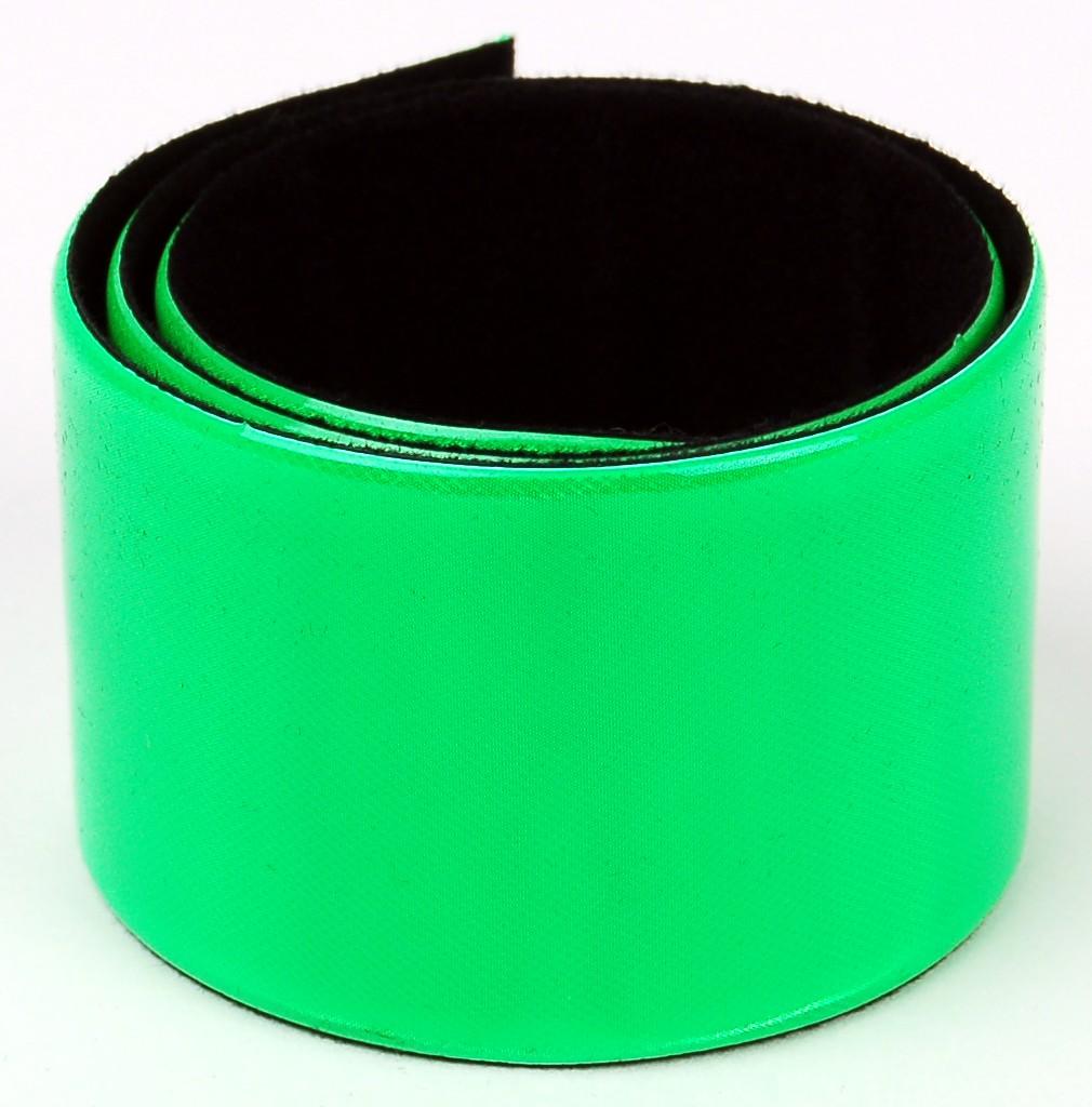 Páska samozavinovací reflexní zelená