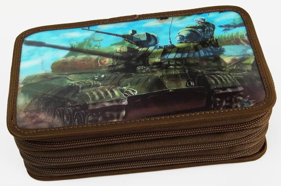Penál třípatrový 3D Action Tank