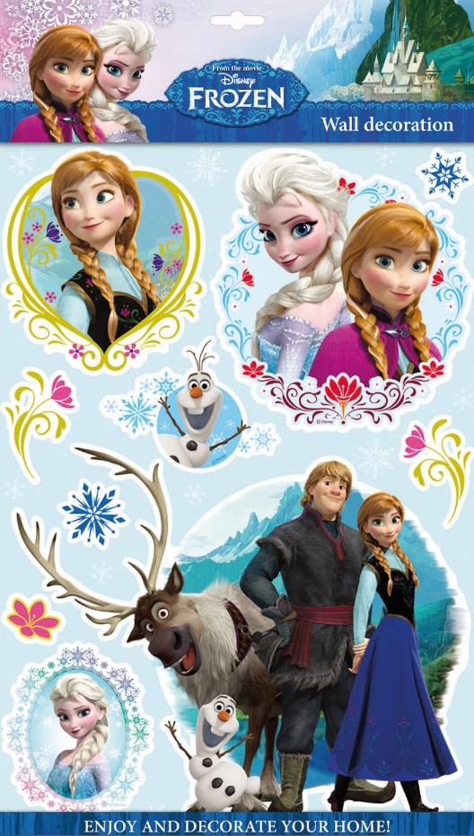 Samolepky na zeď Disney Ledové království 3D 06631 , 40x29cm