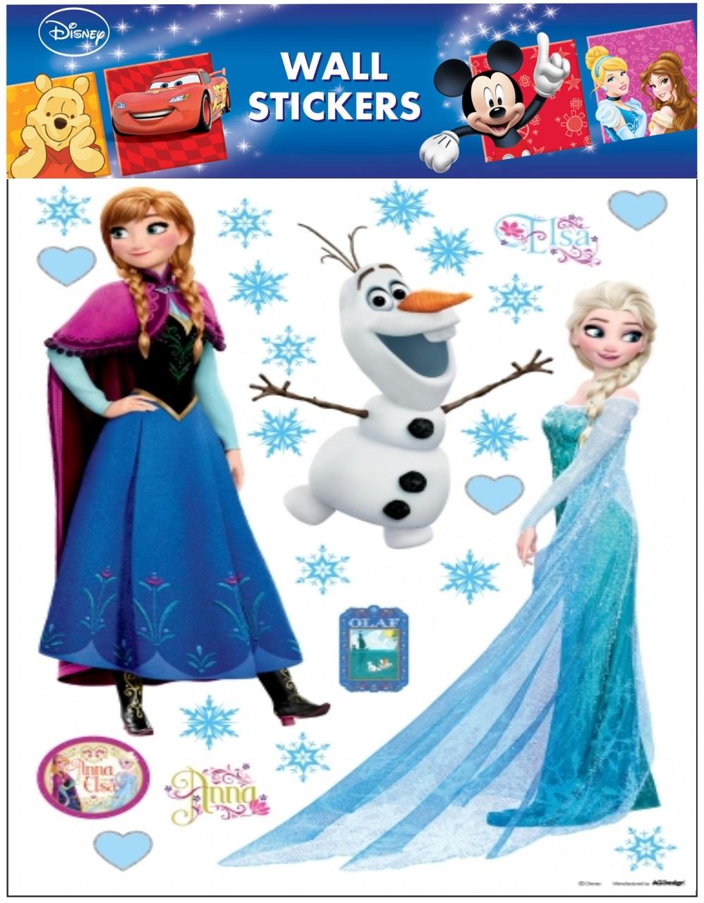Samolepky na zeď Disney Ledové království Elsa a Anna 21095 , 30x30cm