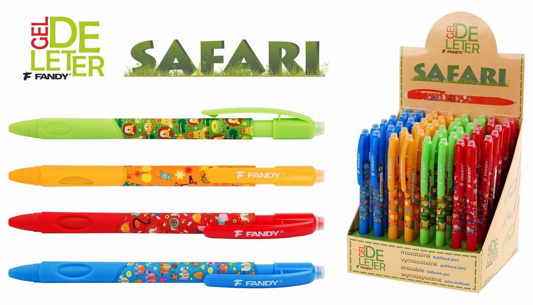 Kuličkové pero gumovací deleter Safari
