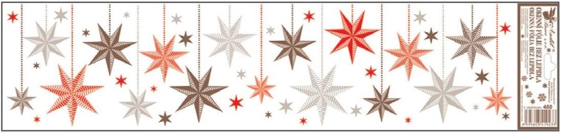 Okenní fólie barevné visící ozdoby, pruhy 480 , 64x15 cm Typ: 3