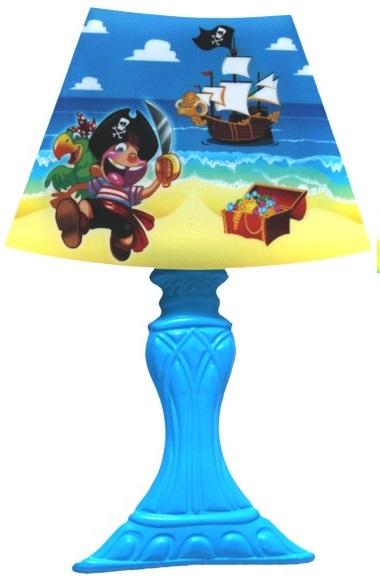 Lampička dotyková 3LED 22x30cm na stěnu modrá