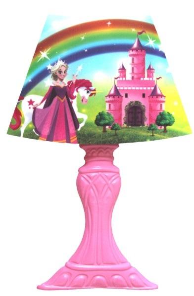 Lampička dotyková 3LED 22x30cm na stěnu růžová