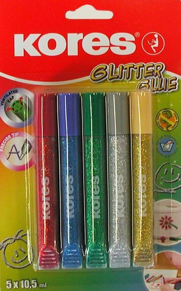 Lepidlo KORES glitter glue s třpytkovým efektem 10,5 ML
