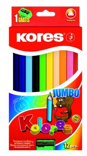 Pastelky Kolores Jumbo 12 ks + ořezávátko