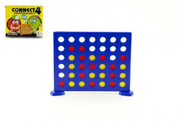 Piškvorky 4 v řadě plast společenská hra v krabičce 13x11x3cm