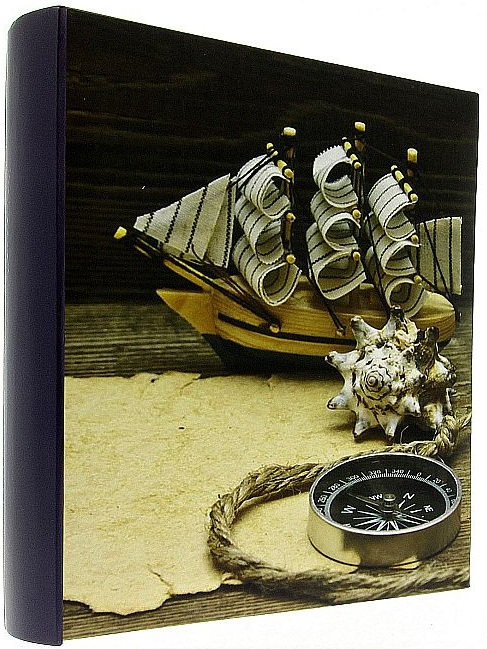 Fotoalbum na fotorůžky COMPASS modrý hřbet loď