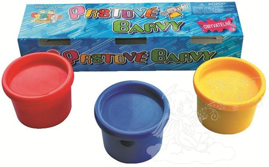Prstové barvy 3x80 ml