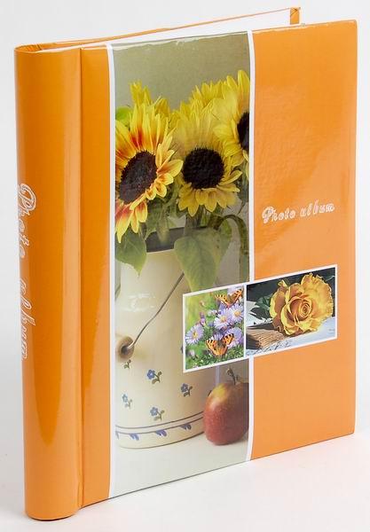 Fotoalbum samolepící DRS-30 Flower Twinkle oranžový