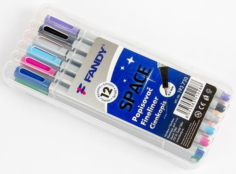 Sada popisovačů Space 12 barev