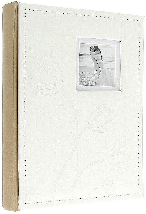 Fotoalbum 13x18/100foto KD-57100S Flower bílý - 2 POSLEDNÍ KUSY -