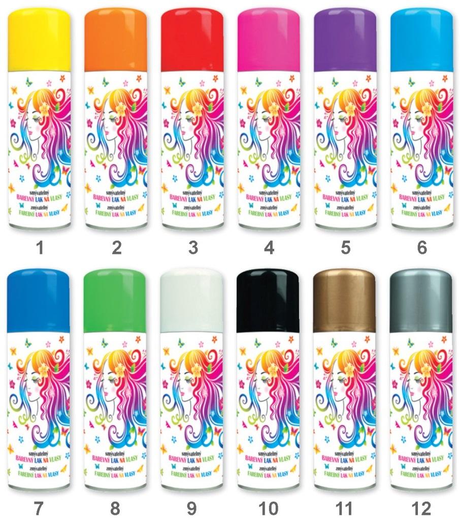 Barvy na vlasy mix 125 ml 141 Barvy na vlasy: 1. ŽLUTÁ