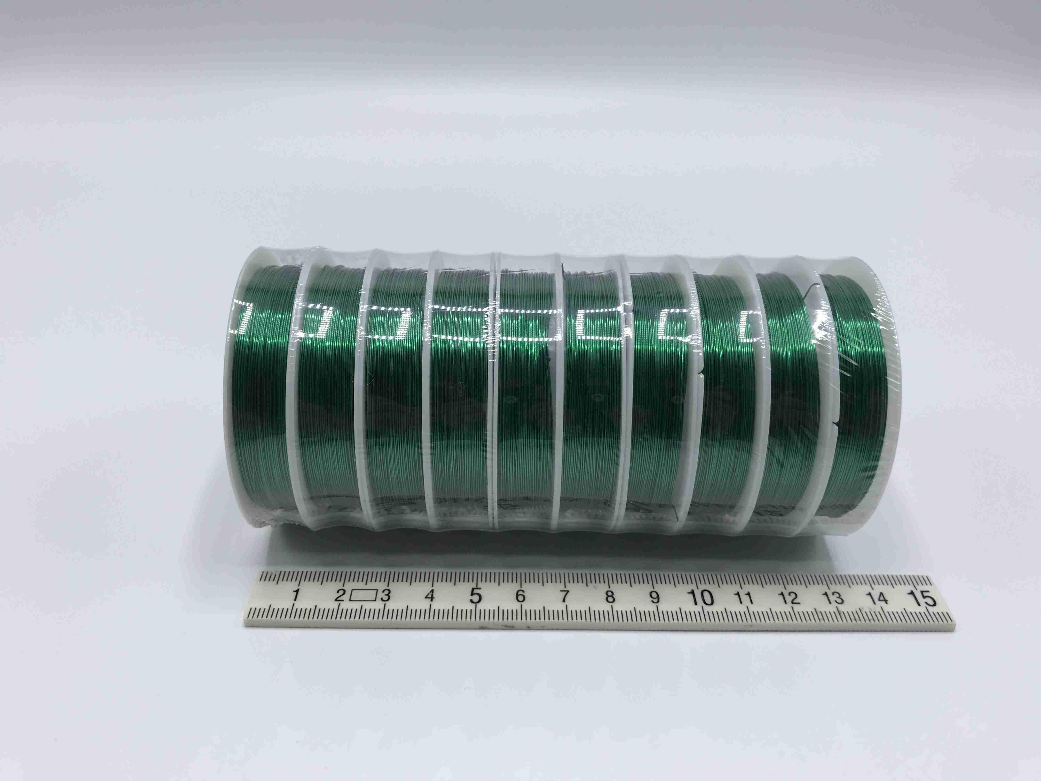Drátek - zelený - 0,4 mm x 10 m - 10 ks