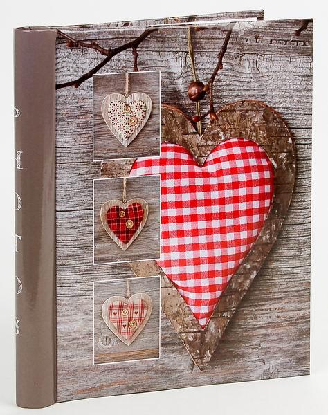 Fotoalbum samolepící DRS-20 Trim 2 karované srdce