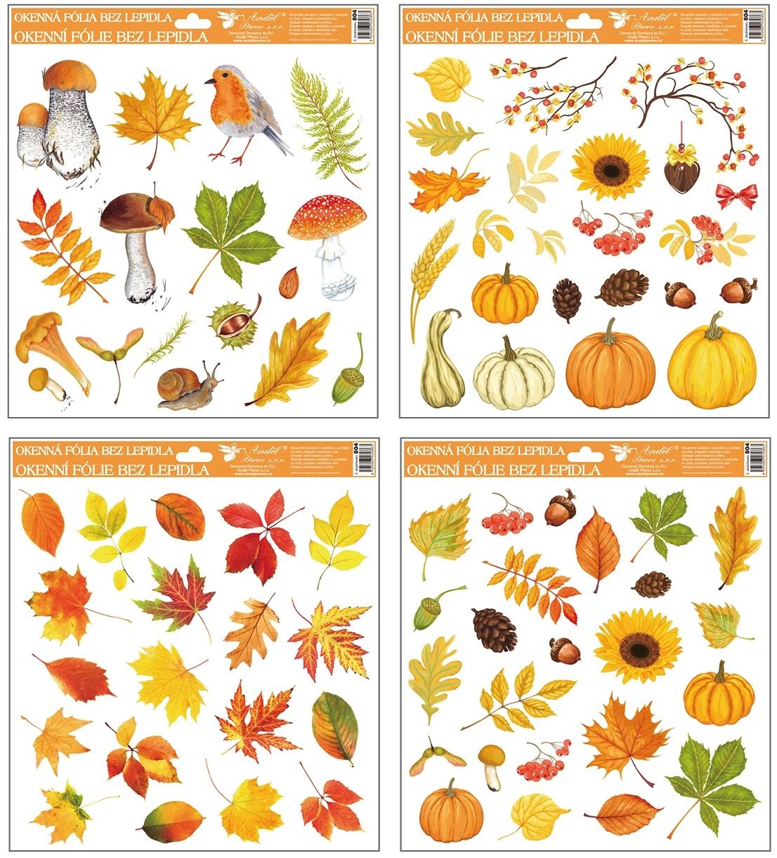 Okenní fólie podzim 30x30 cm 804