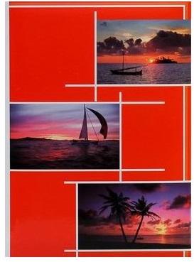 Fotoalbum 10x15/300foto B-46300/2S Gleam 2 červené