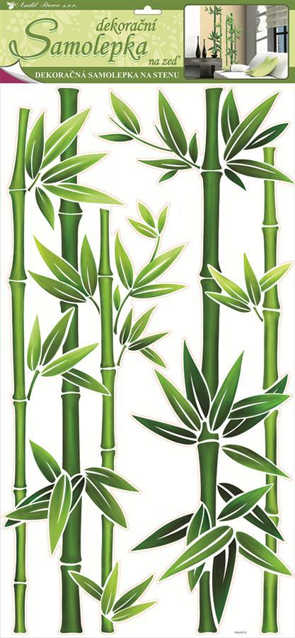 Samolepka dekorační na zeď bambus zelený 1330