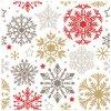 Papírová ubrousky vánoční, třívrstvé 33 x 33 cm, 20 ks 13016