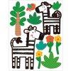 Samolepky na zeď v bloku zvířátka 16 x 23 cm 6 listů 15056