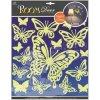 Samolepky na zeď motýli svítící ve tmě 604, 31x29cm - 2 POSLEDNÍ KUSY -
