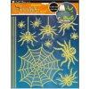 Samolepky na zeď pavouci svítící ve tmě 10047, 38x30cm - 2 POSLEDNÍ KUSY -