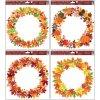 Okenní fólie 30x30 cm, podzimní věnce , 964
