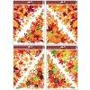 Okenní fólie rohová 38x30 cm, podzimní listí , 963