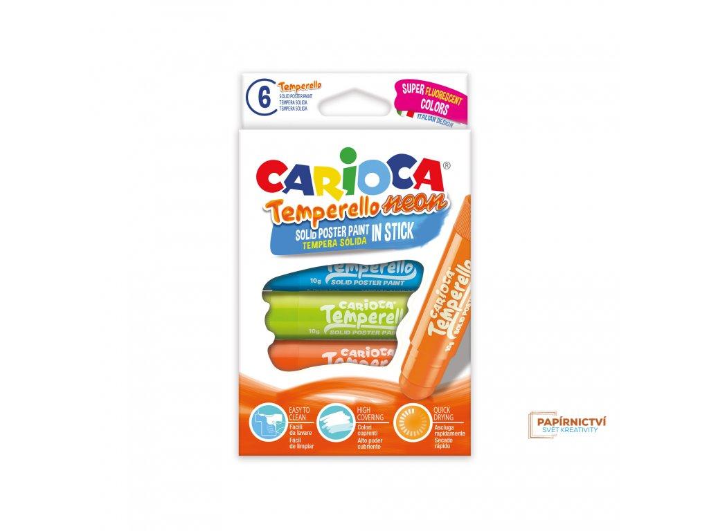 Tuhé tempery CARIOCA NEON 6ks