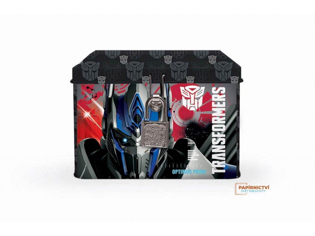 Pokladnička plechová Transformers
