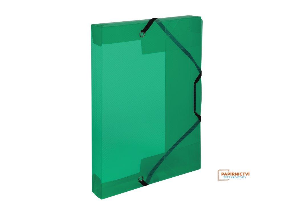 Krabice PP s gumou A5 Lines zelená