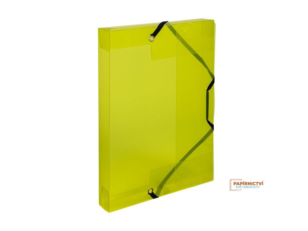 Krabice PP s gumou A5 Lines žlutá