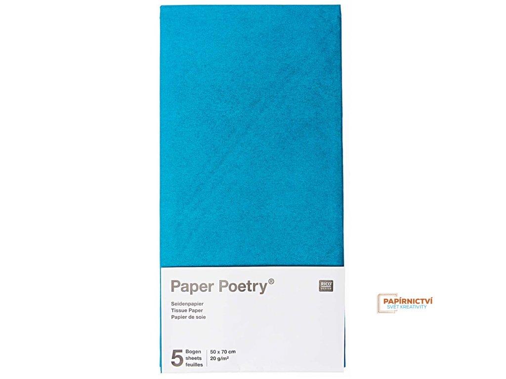 Hedvábný papír 50x70cm, 5ks, šedozelený