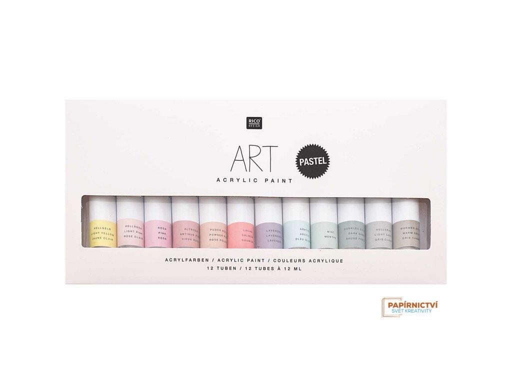 Sada akrylových barev PASTEL 12 x 12 ml