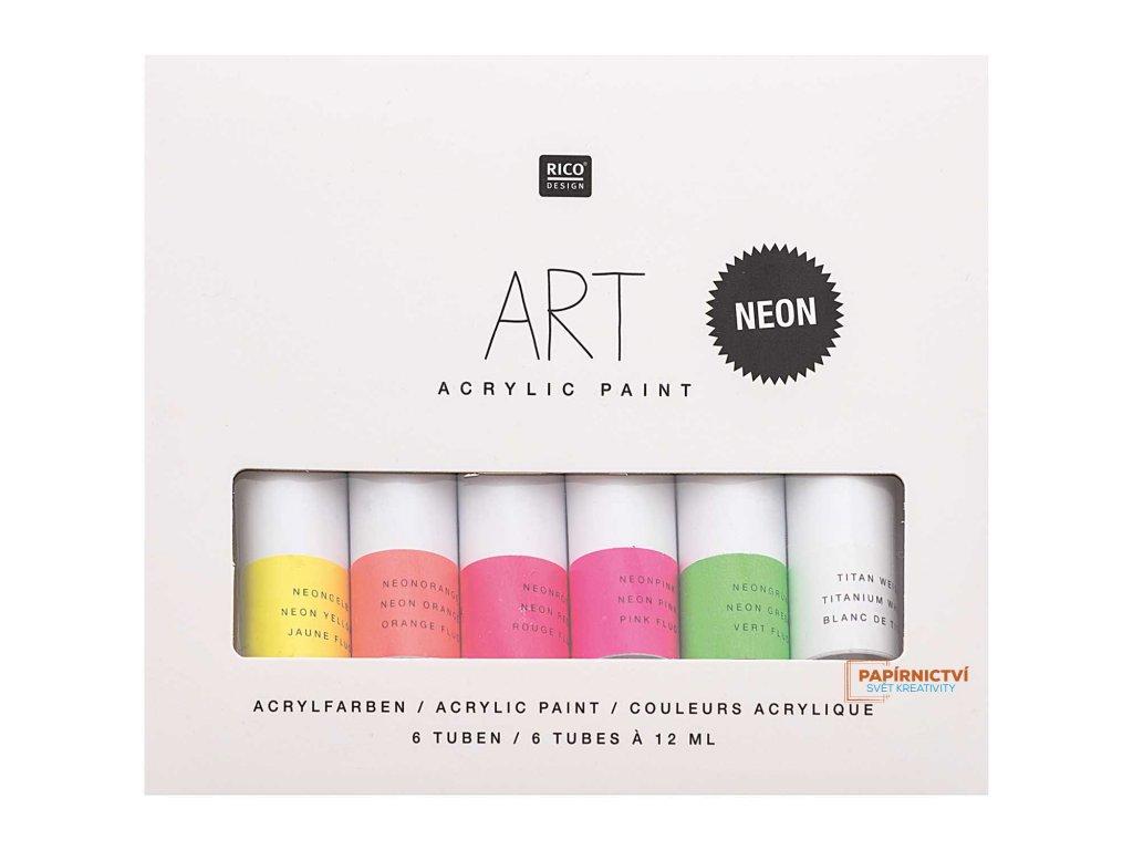 Sada akrylových barev NEON 6 x 12 ml