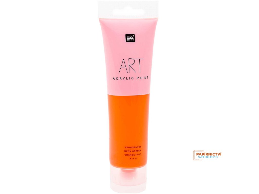 Akrylová barva 100ml NEON oranžová