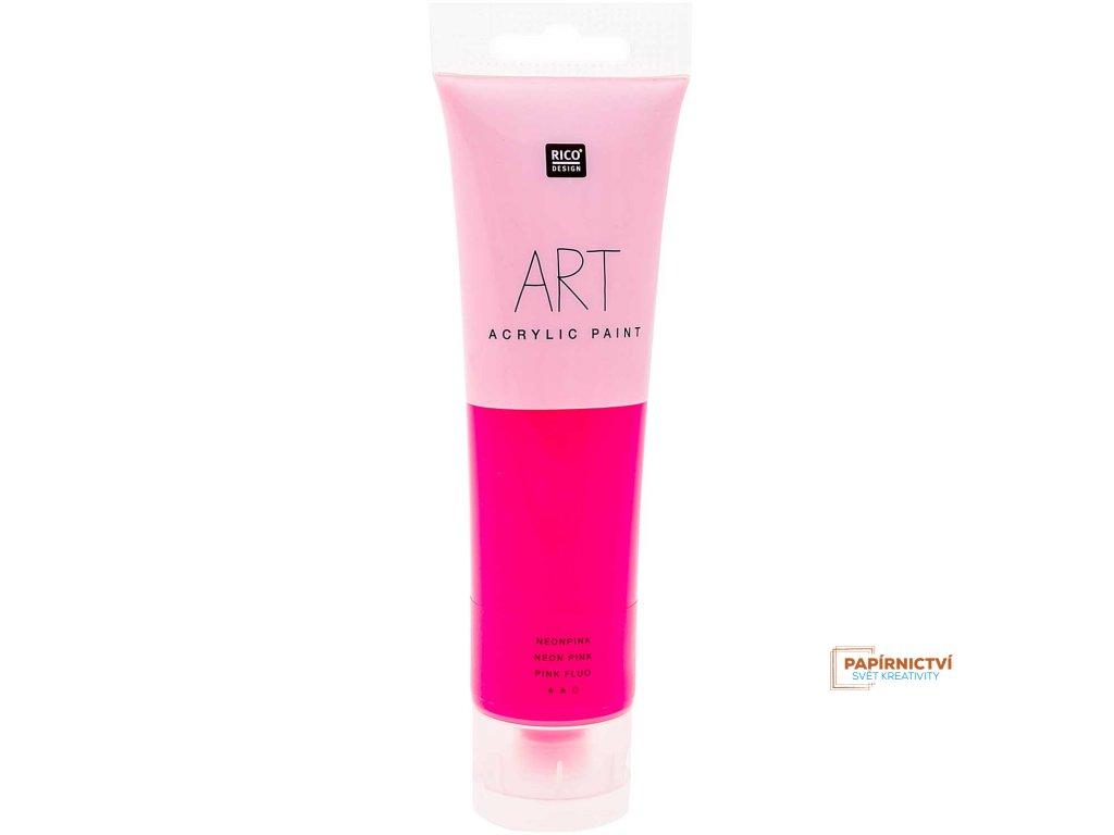 Akrylová barva 100ml NEON růžová