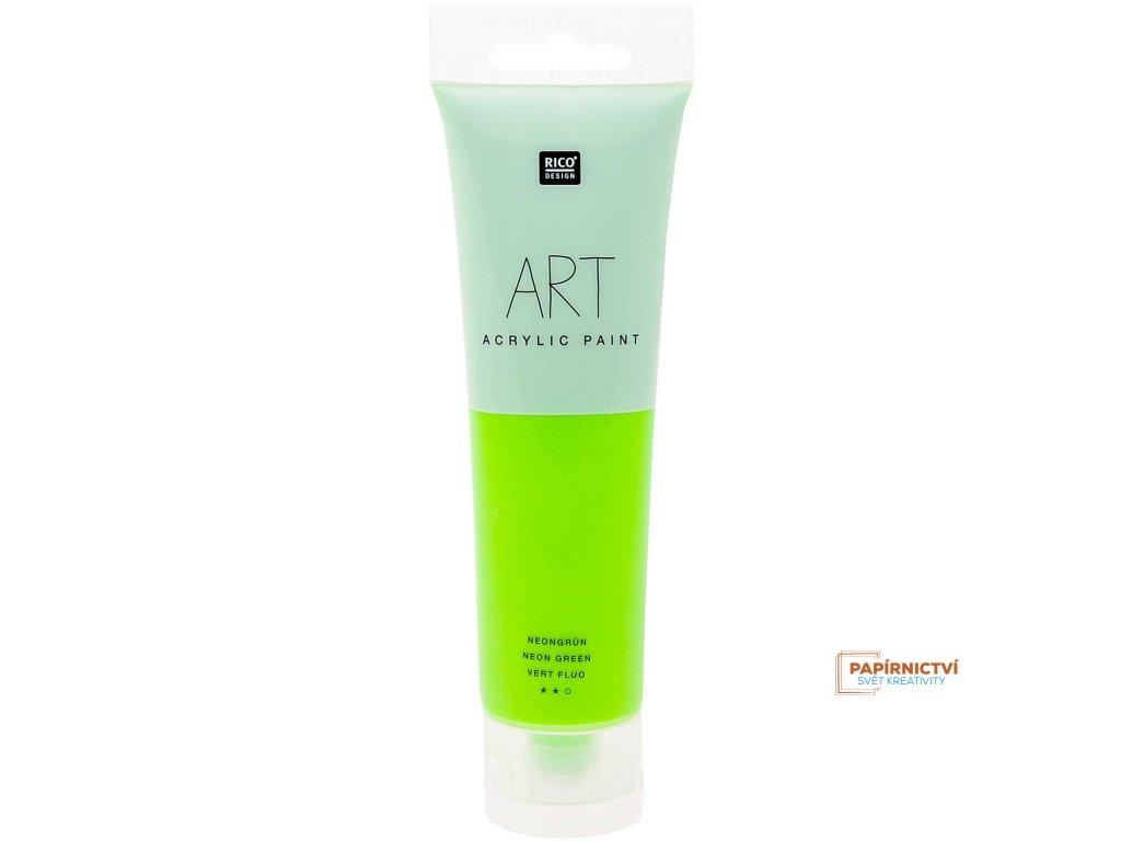 Akrylová barva 100ml NEON zelená