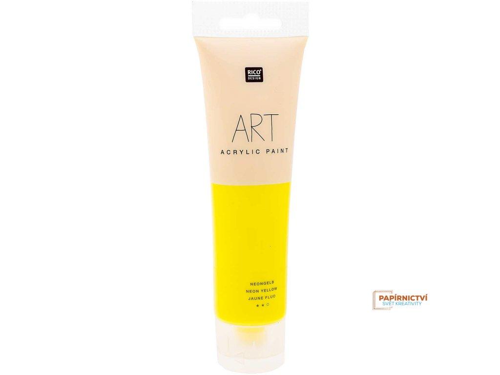 Akrylová barva 100ml NEON žlutá