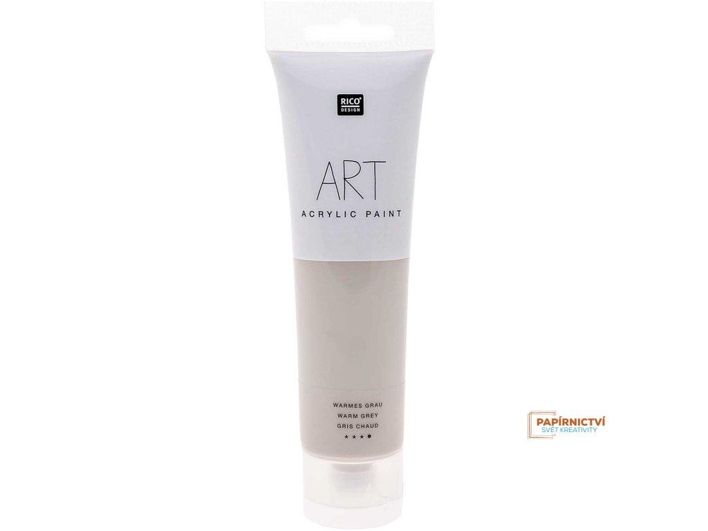 Akrylová barva 100ml teplá šedá