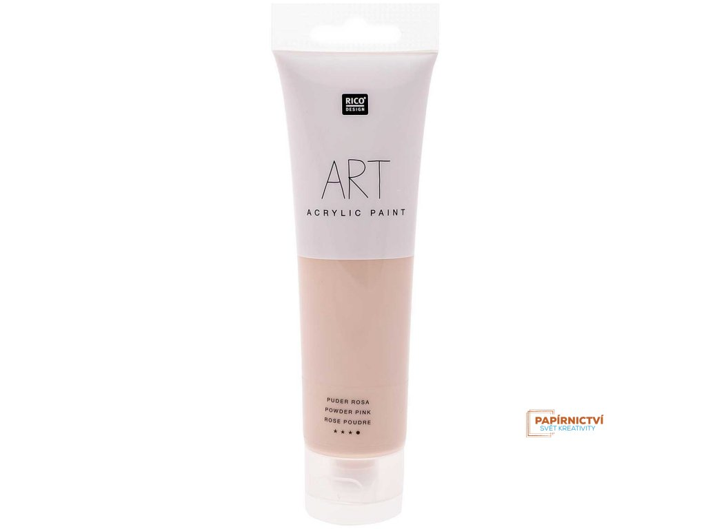 Akrylová barva 100ml růžová pudrová