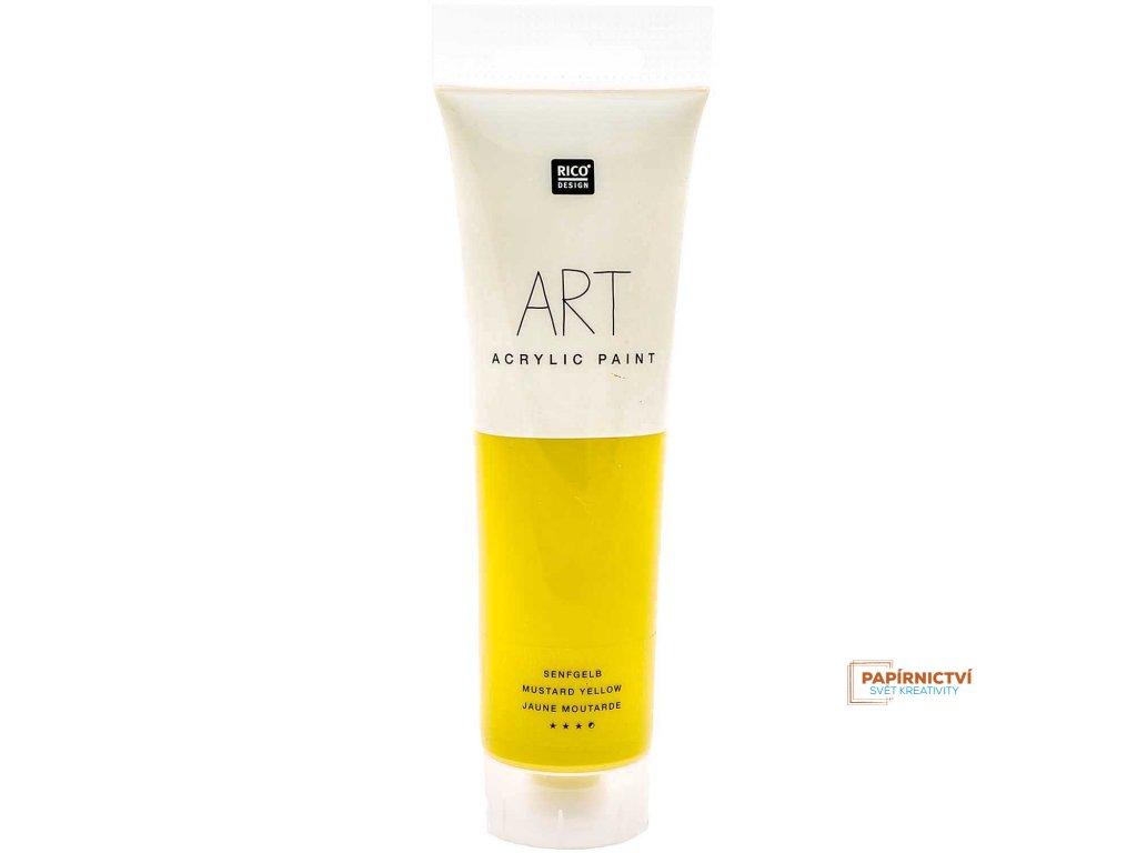 Akrylová barva 100ml hořčičná žlutá
